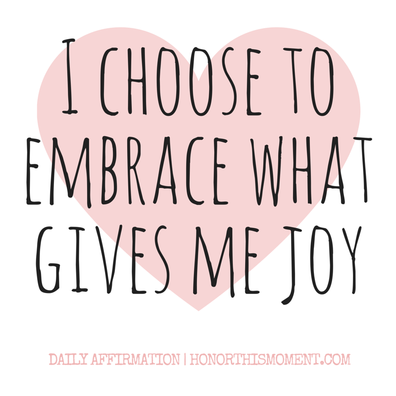 I choose to embrace